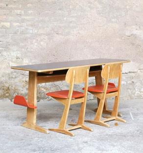 Bureau_ecole_casala_orange_chaise_bois_metal_mobilier_vintage_design_annee_50_60_gentlemen_designers_strasbourg_paris_lyon_vignette
