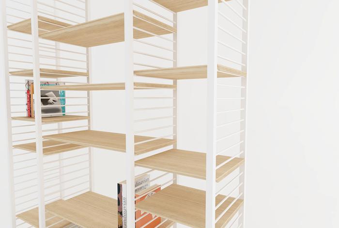 etagere murale metal bois sur mesure made in france. Black Bedroom Furniture Sets. Home Design Ideas