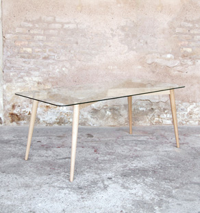 Table_manger_verre_creation_sur_mesure_bois_chene_clair_mobilier_vintage_design_annee_50_60_gentlemen_designers_strasbourg_alsace_made_in_france_vignette