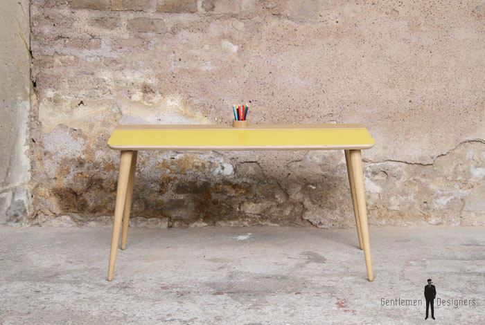 Petit bureau enfant style vintage made in france sur mesure - Bureau enfant original ...