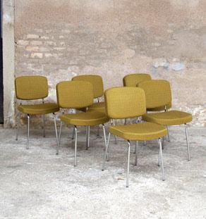 Chaise_tissu_mobilier_vintage_acier_tubulaire_jaune_vert_kaki_lot_design_annee_50_60_original_gentlemen_designers_strasbourg_alsace_paris_lyon_vignette