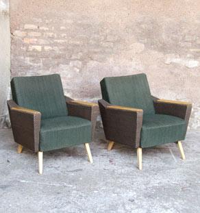 Fauteuil_paire_tissu_accoudoir_vintage_bois_mobilier_design_annee_50_60_original_gentlemen_designers_strasbourg_alsace_paris_lyon_vignette