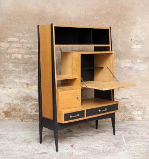 Secretaire_bureau_vintage_bois_chene_claire_noir_design_annee_50_60_original_gentlemen_designers_strasbourg_alsace_paris_lyon_vignette
