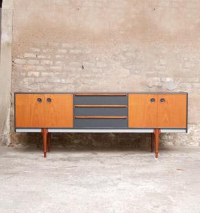 Enfilade_teck_scandinave_3_tiroirs_gris_anthracite_mobilier_vintage_design_annee_50_60_original_gentlemen_designers_strasbourg_alsace_paris_lyon_vignette