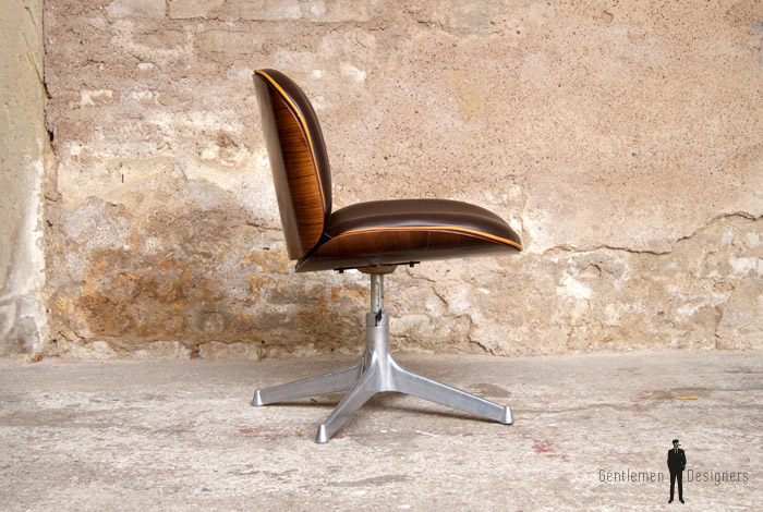 Fauteuil De Bureau Vintage Ico Parisi MIM Pivotant Gentlemen - Fauteuil de bureau vintage