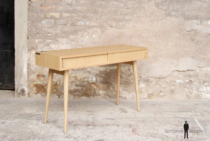 Bureau meuble style vintage sur mesure made in france - Meubles made in france ...