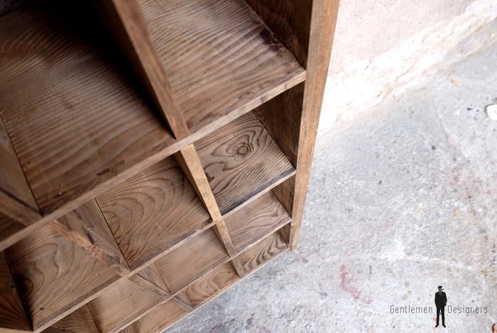Rangement casier ancien en bois meuble de tri gentlemen designers - Casier rangement bois ...