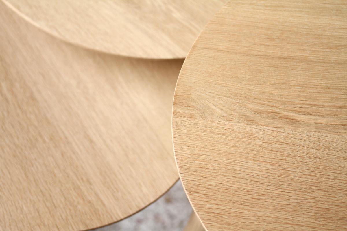 Table basse tripode gigogne sur mesure bois scandinave