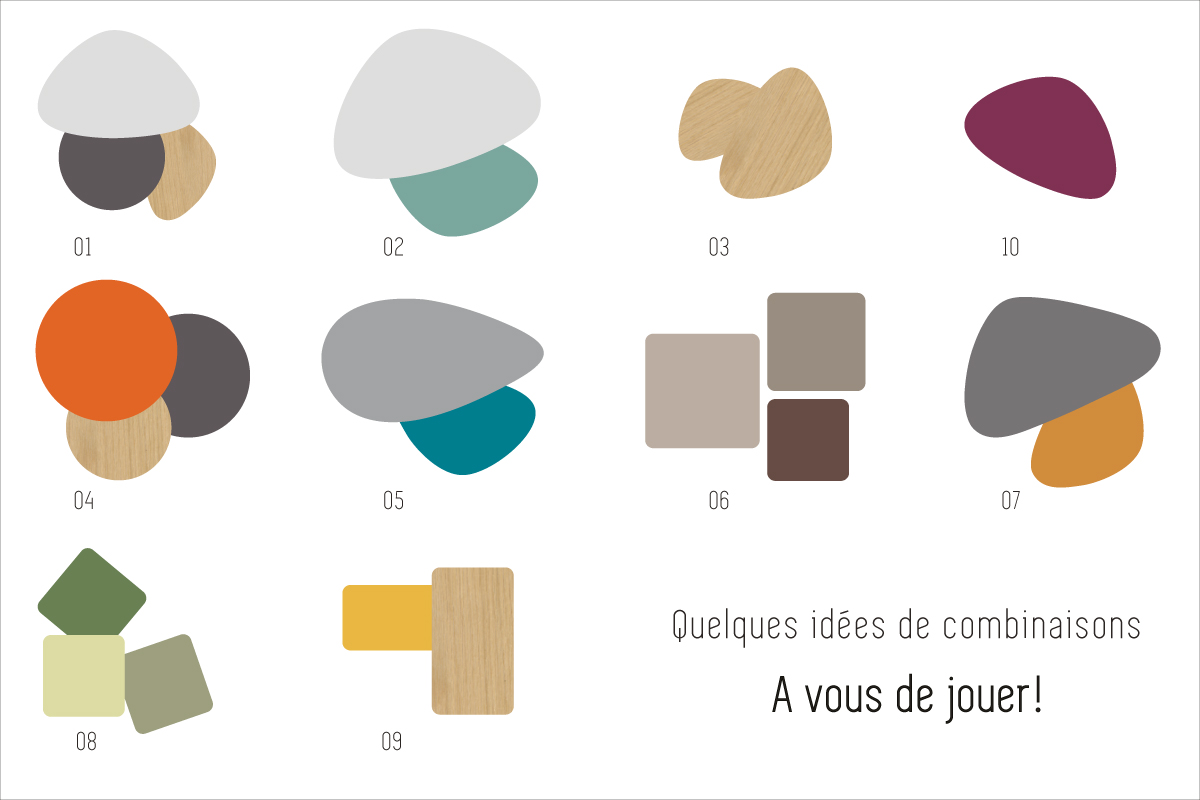 made in france table basse tripode gigognes sur mesure. Black Bedroom Furniture Sets. Home Design Ideas