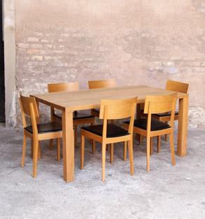 Table_bois_clair_chene_grande_massif_mobilier_vintage_design_annee_50_60_original_gentlemen_designers_strasbourg_alsace_paris_lyon_vignette