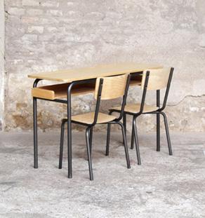meuble d appoint vintage en bois 2 portes grises. Black Bedroom Furniture Sets. Home Design Ideas