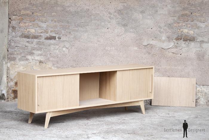 meuble enfilade chene bois fabriqu en france scandinave. Black Bedroom Furniture Sets. Home Design Ideas