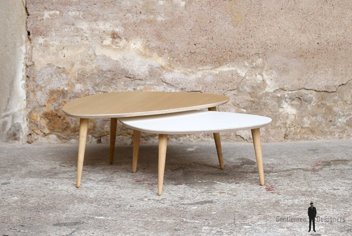Table bois france for Table basse tripode gigogne