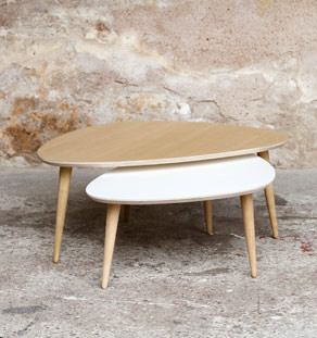 Table basse gigogne sur mesure made in france - Creation table basse ...