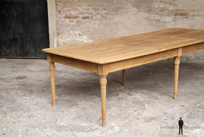 Grande table de campagne restaurant ancienne en ch ne for Table en bois style campagne