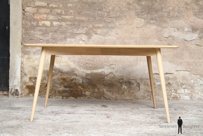Table bois meuble style vintage made in france sur mesure - Meubles made in france ...