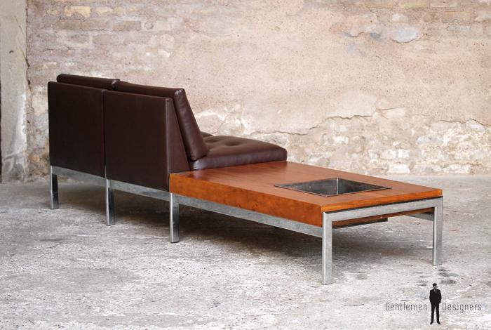 banquette 2 places vintage scandinave enti rement r nov pieds chrome gentlemen designers. Black Bedroom Furniture Sets. Home Design Ideas