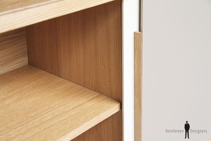 buffet vaisselier chene clair fabriqu en france style scandinave. Black Bedroom Furniture Sets. Home Design Ideas