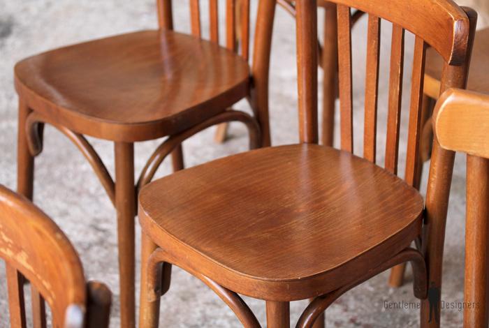 lot de 6 chaises bistrot baumann en bois dossier barreaux gentlemen designers. Black Bedroom Furniture Sets. Home Design Ideas