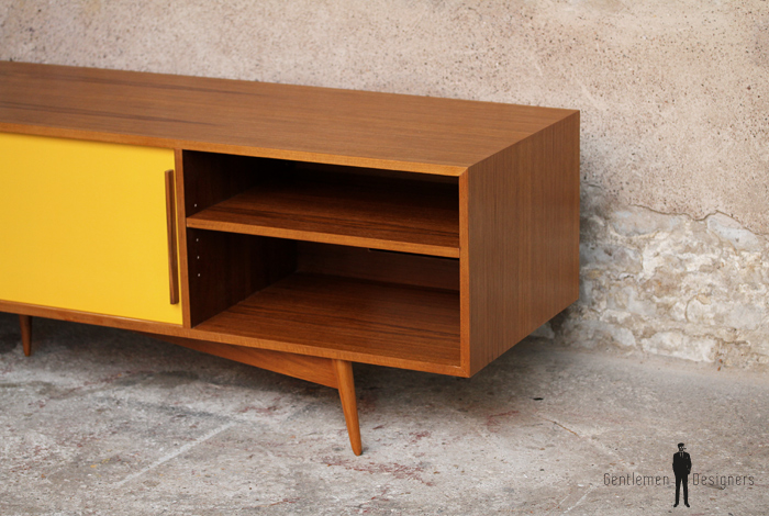 Meuble Tv Jaune : Meuble Tv Hifi Bas Teck – Scandinave – Vintage – Made In France