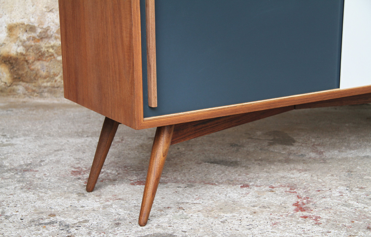 Meuble Tv Bas Style Scandinave Sur Mesure Made In France # Fabriquer Un Meuble Tv Scandinave
