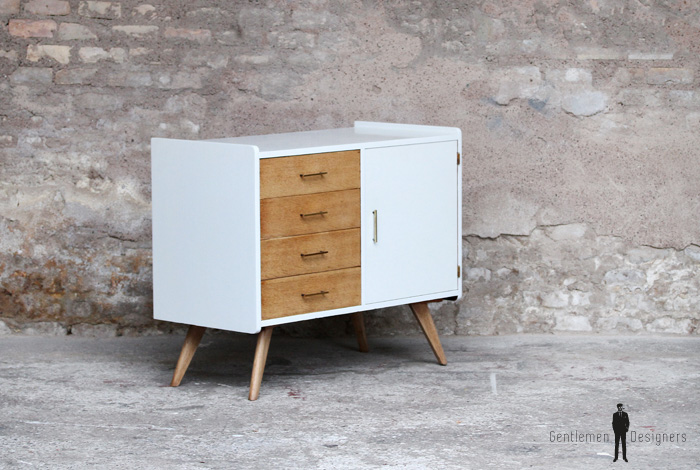 meuble tv vintage blanc – Artzeincom -> Artzein Commode