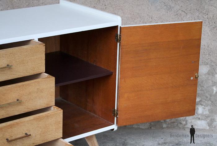 meuble commode vintage pieds compas. Black Bedroom Furniture Sets. Home Design Ideas