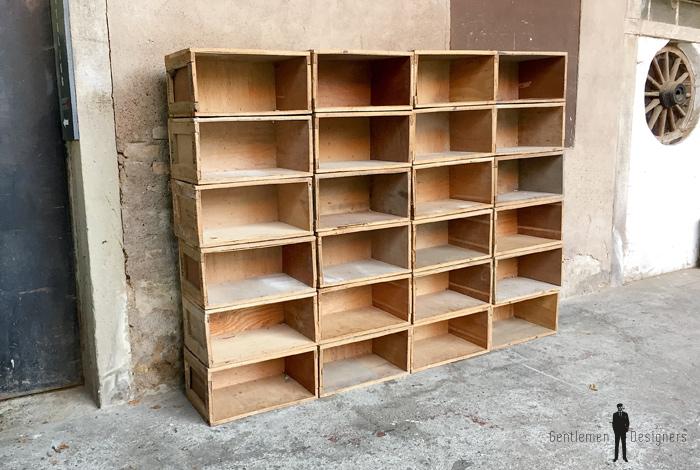 30 caisses anciennes en bois massif transport vin fruits - Dimension caisse de vin ...