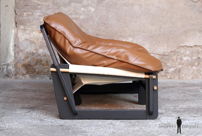 canap 2 places enti rement restaur brun caramel. Black Bedroom Furniture Sets. Home Design Ideas