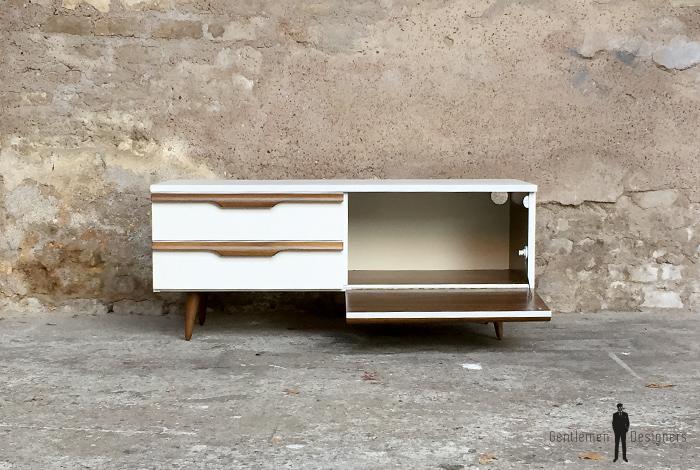 meuble tv bas blanc maison design. Black Bedroom Furniture Sets. Home Design Ideas