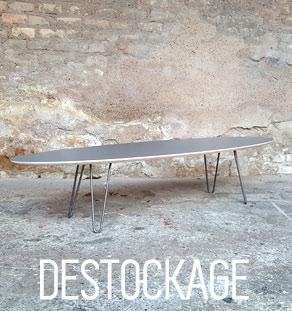 Table basse ovale fabriquer en france gentlemen designers vintage