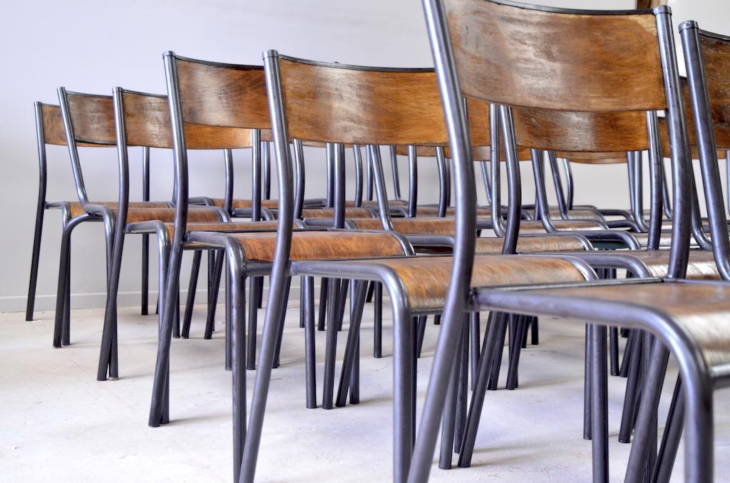 Chaise d 39 ecolier mullca gentlemen designers - Chaise d ecolier vintage ...