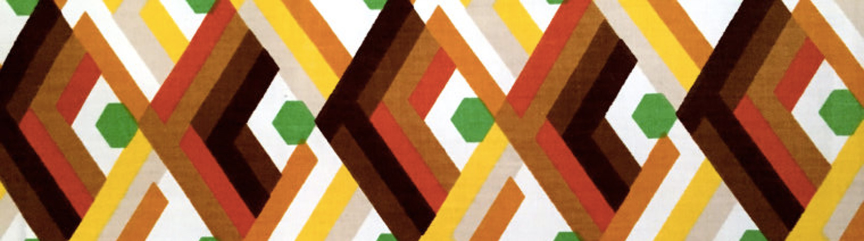 Les tissus des années 70