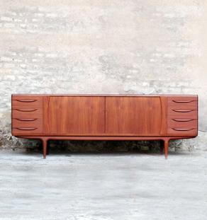 Enfilade vintage danoise teck, scandinave, J.Andersen, mobelfabrik