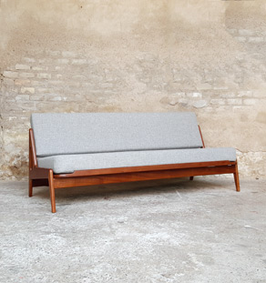 Canapé daybed vintage scandinave en teck. A.W.Iversen, Kvadrat