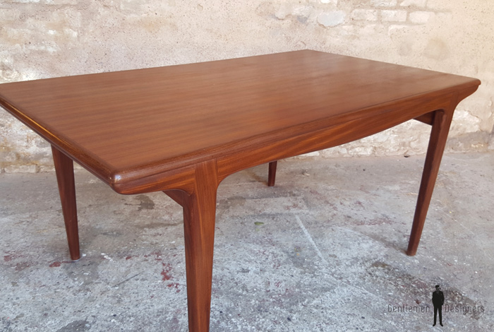 Table rallonges scandinave en teck andersen danemark for Table scandinave avec rallonge