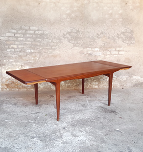 Table à rallonges scandinave en teck, Andersen, Danemark gentlemen designers