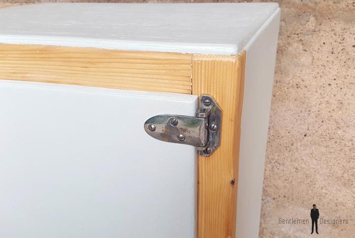 Ancien frigo d tourn en petit meuble bois et gris clair - Petit meuble gris ...