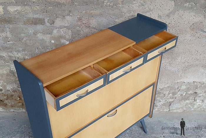 meuble rangement chaussure vintage graphique gris. Black Bedroom Furniture Sets. Home Design Ideas