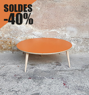 table_basse_ronde_orange_vintage_unique_original_gentlemen_designers_strasbourg_paris_alsace_handschuheim_bas-rhin_france_vignette_solde