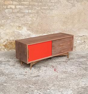 Gentlemen designers mobilier vintage et creation made in france - Meuble tv violet ...