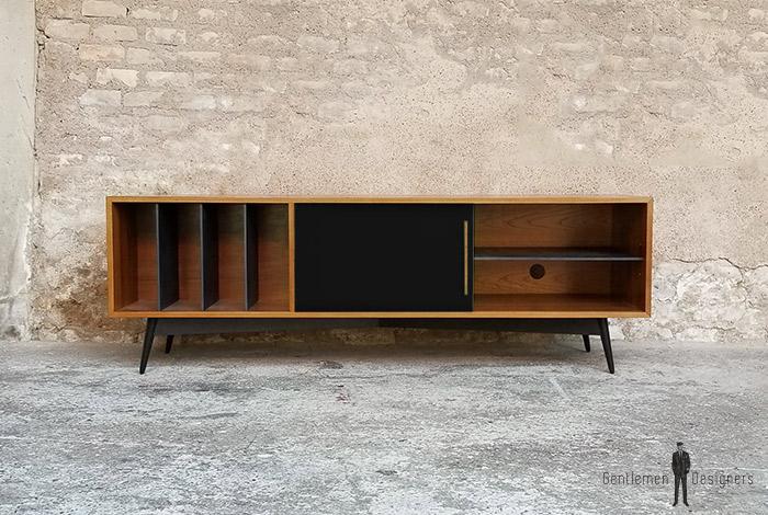 creation sur mesure meuble teck vinyles valcromat. Black Bedroom Furniture Sets. Home Design Ideas
