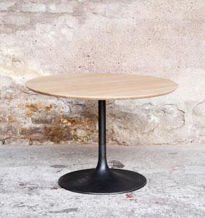 table basse ronde bois tulipe style knoll gentlemen designers - Table Ronde Pied Tulipe