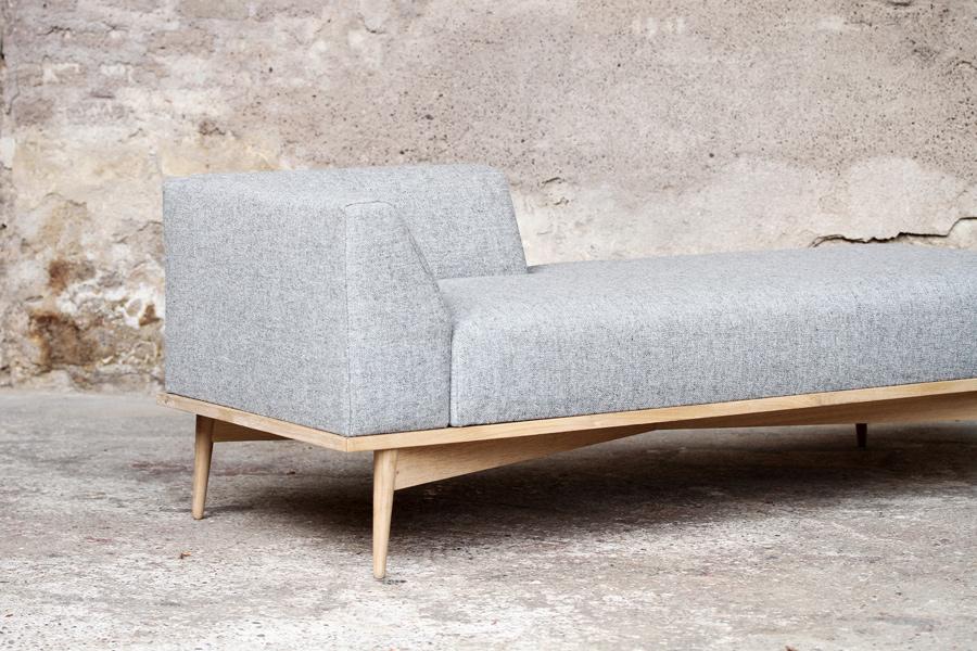 meridienne canape style scandinave vintage made in france. Black Bedroom Furniture Sets. Home Design Ideas