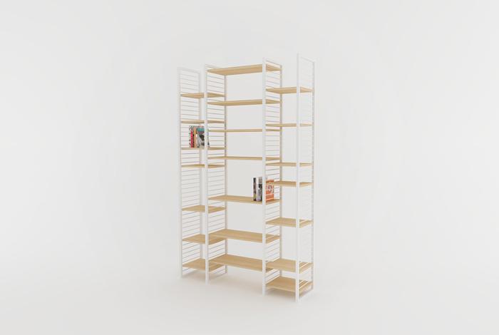 creation sur mesure etagere bibliotheque murale 3. Black Bedroom Furniture Sets. Home Design Ideas