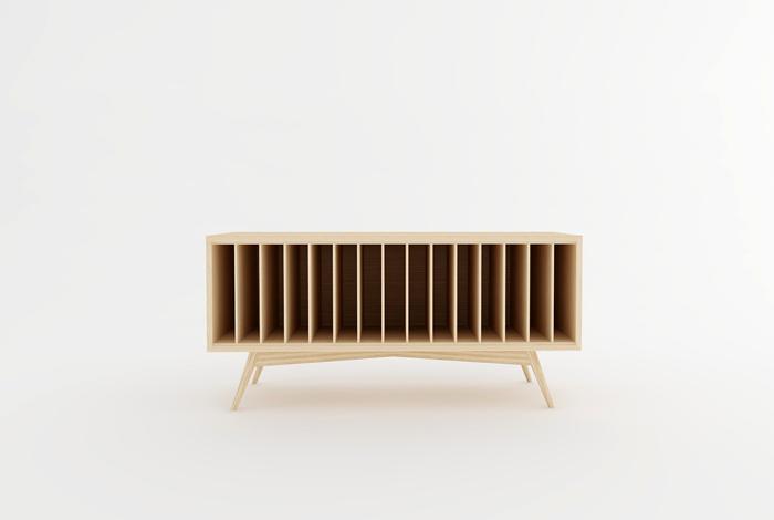 meuble vinyles style vintage creation sur mesure. Black Bedroom Furniture Sets. Home Design Ideas