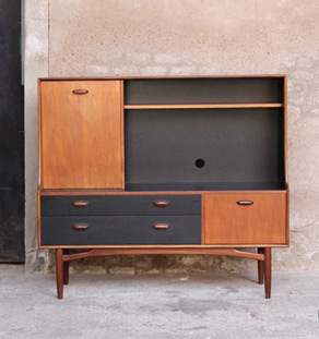 meuble rangement scandinave tv bureau 153 cm gentlemen. Black Bedroom Furniture Sets. Home Design Ideas