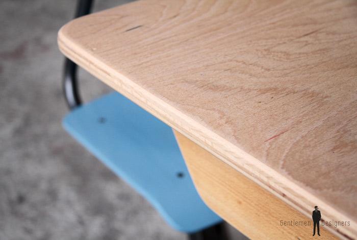bureau ancien d 39 colier 1 place bois et bleu gentlemen designers. Black Bedroom Furniture Sets. Home Design Ideas