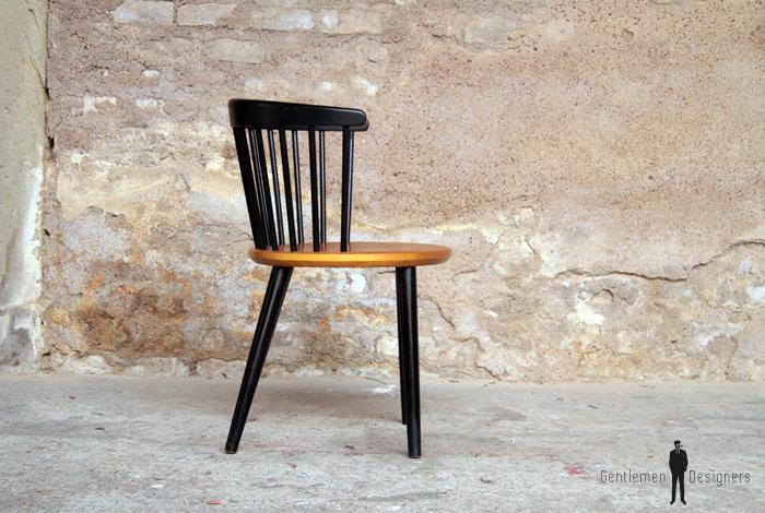 1 chaise de bureau scandinave en teck gentlemen designers. Black Bedroom Furniture Sets. Home Design Ideas
