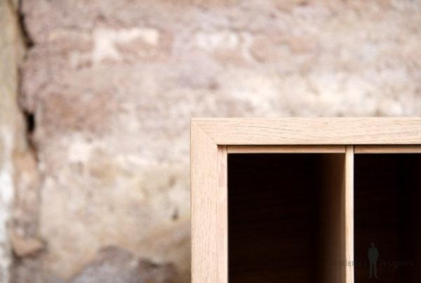 Meuble vinyle bois clair bac disquaire dj bag sur mesure made in france paris lyon strasbourg